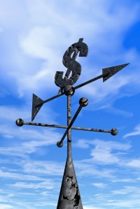 Weather Vane with Dollar Sign