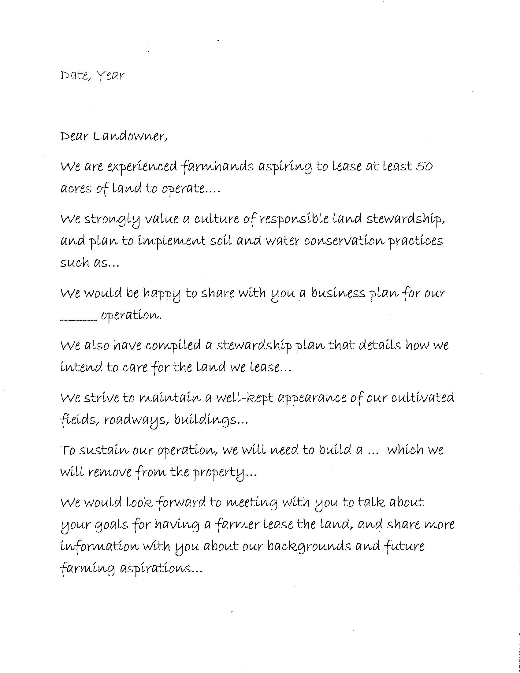 A Generic Letter Of Intent ...  Letter Of Intent To Lease Sample